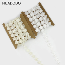 HUADODO 2meters Fishing Line Plum ABS Pearl beads string acrylic Garland For Wedding Decoration party DIY Supplies Beige/White(China)