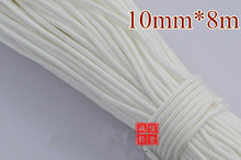 10mm x8m braided nylon rope Polypropylene rope tent climbing boat yacht sailing line pulley clothes line free shipping 6 colors(China)