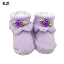 5pairs Cute Beautiful Flowers Baby Socks Princess Newborn Baby Girl Socks 0-6 Months Baby Clothing Floral Lace Socks(China)