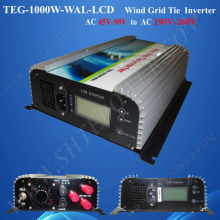 wind grid tied inverter 1000w 3 phase grid tie inverter wind turbine 1kw with lcd display(China)