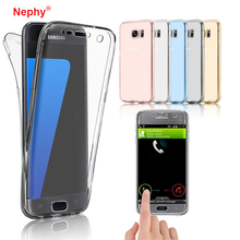 Nephy 360 Degree Full Body Protection silicon Case For Samsung Calaxy Core Prime G360 G360F G360H G361 G361F G361H bcak Cover(China)
