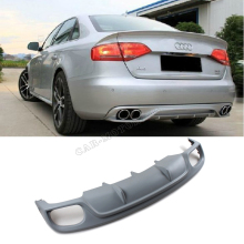 Unpainted  RG Style  FRP Car rear lip A4 B9 rear bumper diffuser,car side lip for Audi A4 B9,fits: 2013 A4 B9 Standard Bumper