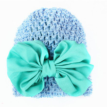 1PC NEW Toddlers Infant Baby Girl Bowknot Hollow Out Hat Headwear knitting Hat Free Shipping&Wholesale