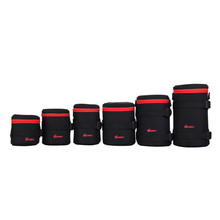 Functional Universal Soft lens bags dslr camera pouch bags High quality lens bag waterproof For Canon Nikon camera lens bags(China)