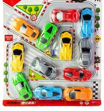 one set car model toys small tiny game for children playing Diecasts Vehicles simulation(China)