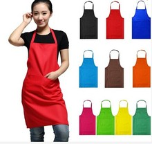New Women Men Apron Korean Waiter Aprons With Pockets Restaurant Kitchen Cooking Coffee Shop Art Work Advertising Unisex Aprons(China)