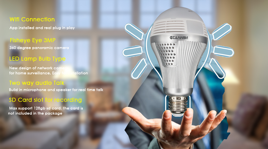ip light bulb camera wifi