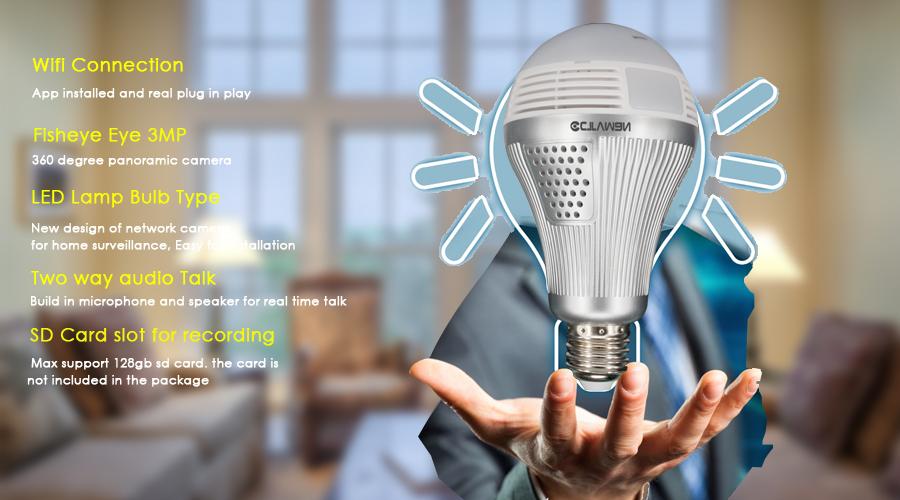 ip light bulb camera wifi