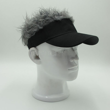 Adjustable Baseball Hat Man's Women's Toupee Wig Funny Hair Loss Cool Golf Caps Novelty Baseball Cap