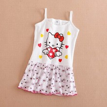 Summer Cute Baby Girl Dress Cotton Butterfly Striped Slip Dress butterfuly bow Children Kids Clothing Princess 2-5 years dress