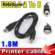 Kebidumei 1.8M USB 2.0 A to B Male Adapter Data Cable for Epson Canon Sharp HP Printer Scanner Extension Wire Cord(China)