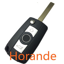 Replacement Modified Folding Remote Control Key Blank For BMW E38 E39 E46  Car Key Shell 3 Button Fob