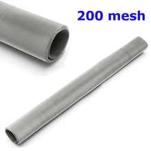 1pc 304 Stainless Steel Woven Wire 200 Mesh Filtration Water Oil Screen Filter 30x60cm For Filtering Water Oil(China)