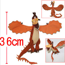 2014 new How to Train Your Dragon plush toy dolls Night Fury dragon plush toy 36cm hight quality