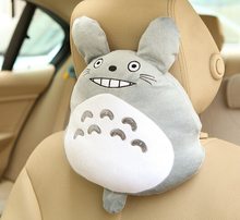 Cute 1pc 30cm cartoon Miyazaki Hayao laugh totoro plush car headrest Vehicle rest neck pillow stuffed toy gift for girl boy