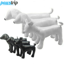 1pc PU Leather Dog Mannequins 3 Size Standing Position Dog Models Toys Pet Animal Shop Display Mannequin