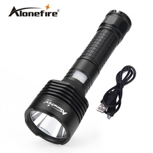 Alonefire X150 CREE XM-L2 led USB Flashlight Torch light for 18650 Rechargeable Battery(China)