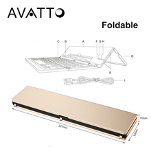 [AVATTO] New Arrival Foldable and Portable Bluetooth 3.0 Wireless Laptop Tablet Phone Mini Keyboard for Android IOS Mac Windows(China)