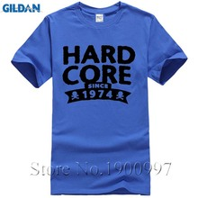 Screen Printing Screw Neck Cotton Hardcore since 1974 Birthday Shirt Men tshirt Men t shirts Cheap Sale Cartoon Hip Hop Shirt(China)