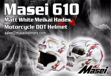 Personality motorcycle helmet male iron 610 man retro high-end off-road motorcycle the ghost white red Genuine(China)
