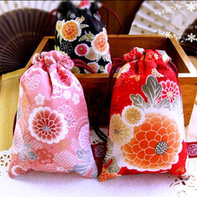 9*14.5cm Beautiful Flower Painting MINI Storage Bag Cute Cotton Mobile Holder Premiums Gift 5pcs/lot CK120