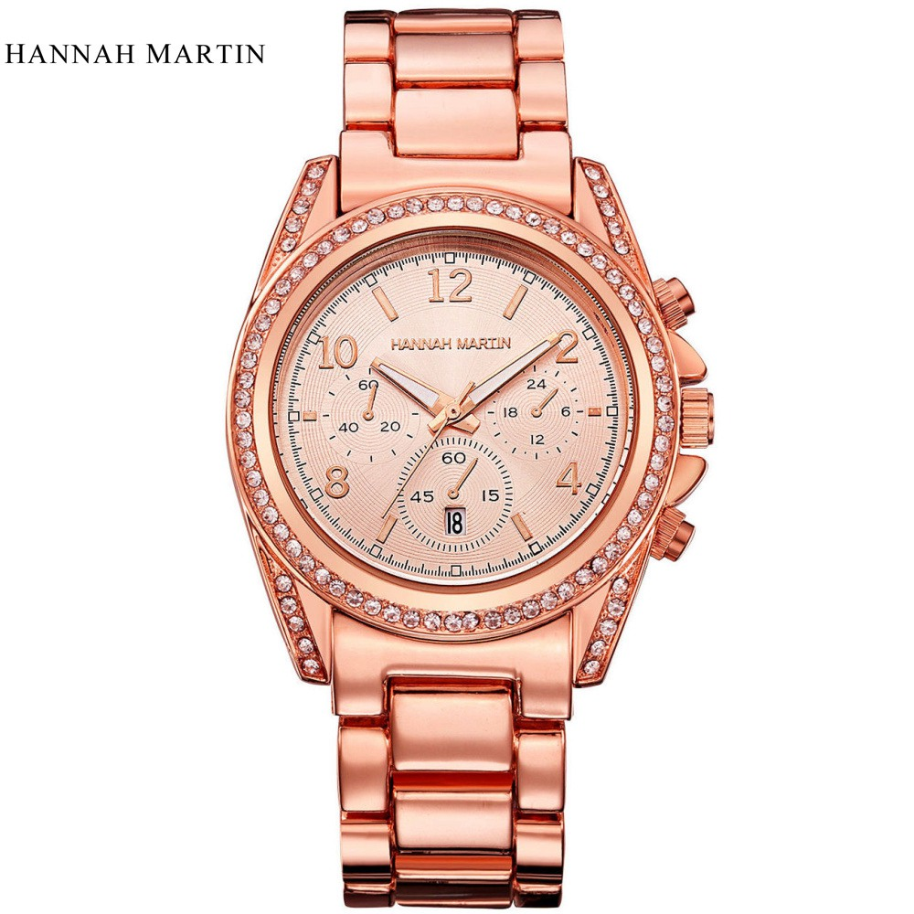HM Luxury brand 2017 New Design Quartz Wristwatches High quality Women Watches Gold Rose Men Relogio Feminino Orologio Donna <br><br>Aliexpress