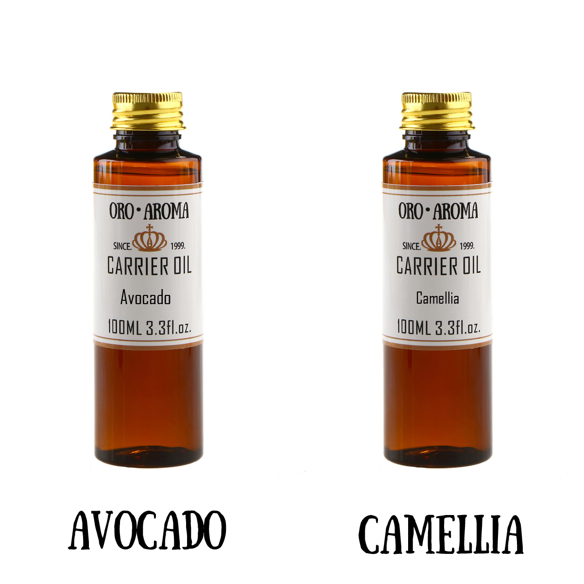 Famous brand oroaroma natural avocado Camellia essential oil natural aromatherapy high-capacity skin body care 100ml*2<br>
