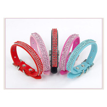 Free Shipping 2015 High Quality rhinestone diamond pet dog collars fashion products for dogs teddy puppy necklace cat collar pet