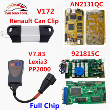 Lexia3 PP2000 Firmware 921815C Diagbox V7.83 Lexia-3 Lexia 3 V48 For Peugeot&Citroen+V172 Renault Can Clip Full Chip AN2131QC(China)