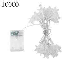 3.2M 30LED Low Power Consumption Five Stars Indoor Outdoor Party Festival Wedding Party Decoration Fairy String Light Hot Sale(China)
