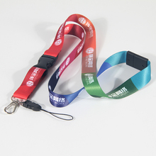 Free freight Office Lanyard Adjustable Length Polyester Neck Strap with Oval Clasp for ID Name Tag and Keys