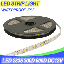 Water-proof LED strip light 2835 300D 60D/m 600D 120D/m 5M/bag DC12V Power IP65 Out door White Warmwhite Red Bule Green RGB lamp