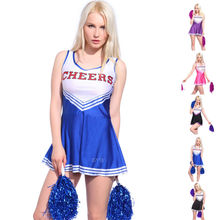 Vocole XS-XL High School Girls Cheerleading Costume Sleeveless Cheerleader Uniform Sportwear Lady Halloween Fancy Costume
