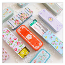 Mini Vintage Storage Tin Box Protable Case Coin Bag Jewelry Box Lovely Print Creative Gift use Mix Pack 12piece/lot