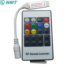 10pcs DC12V 24V Mini RGB Led Controller RF 20Key Wireless 6A Remote Control with DC Connector to Control Led Strip Light SMD5050(China)