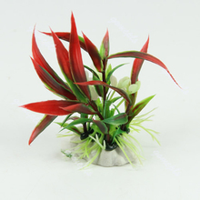 Aquarium Fish Tank Landscape Ornament Decor Red Artificial Plastic Water Plant(China)