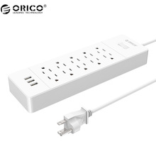 ORICO USP-10A3U Power Strip 3 Ports USB Power Strip 10 AC Outlets Dual in-line Charging Strip Surge Protection