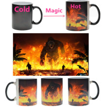 11OZ Ceramic Custom Logo DIY Temperature heat Sensitive Change color sublimation mug magic mug cup taza magica dropshipping