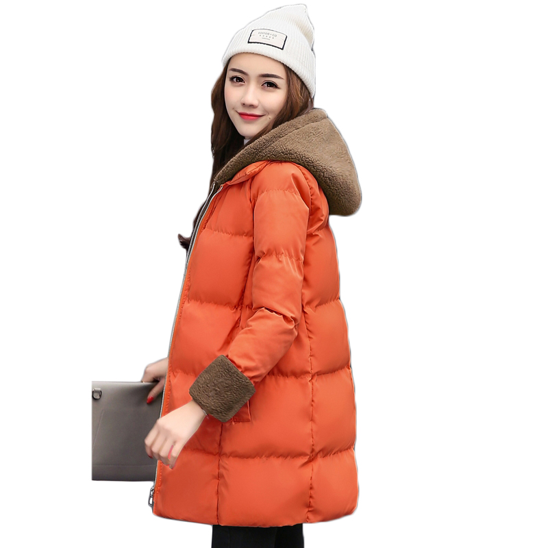 long winter jackets womens 2018 new down jacket coat women thicken warm hooded cotton coats female large size cotton jacket coat
