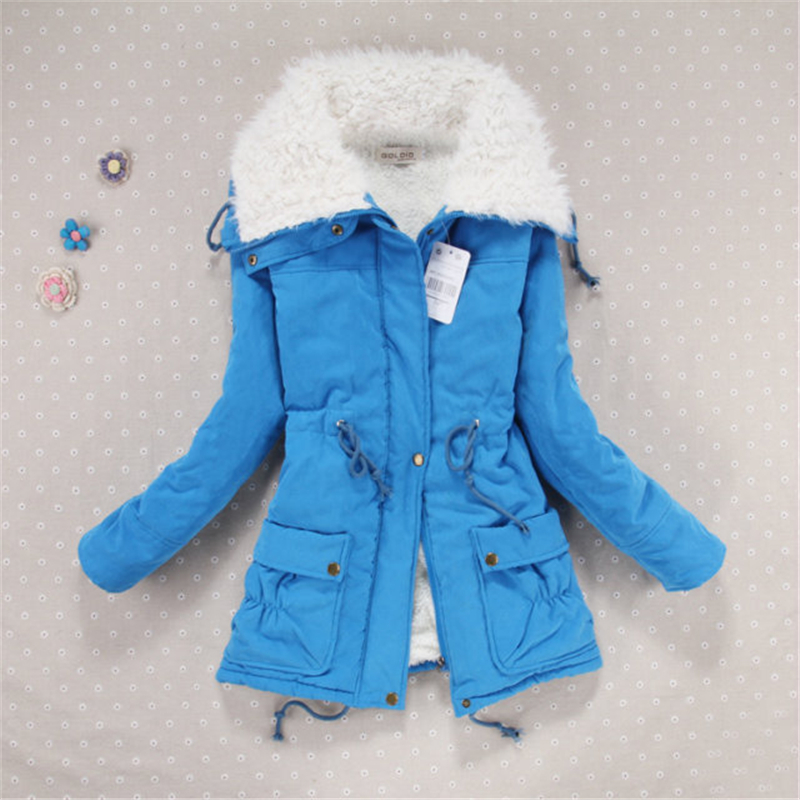 New 2017 Winter Outwear Medium-long Wadded Jacket Thick Hooded Cotton Wadded Warm  Cotton Coat Women Slim Plus Size D801Îäåæäà è àêñåññóàðû<br><br>