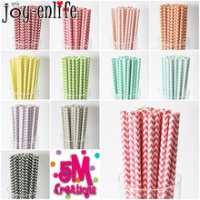 cheap 25pcs Wave pattern paper straw baby Kids Birthday Party Wedding Decoration Paper Drinking Straws party supplies(China)
