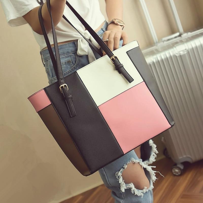 2016 new portable shoulder bag big bag ladies simple casual Korean version of Japan and South Korea a large capacity trendy Tote<br>