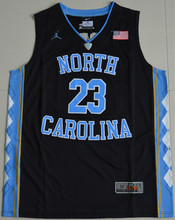 2016 NIKE North Carolina Tar Heels Michael Jordan 23 College Ice Hockey Jersey - Black S M L XL 2XL 3XL 2016 ACC Patch