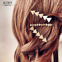 New fashion Accessories Triangle arrow hairpin mix color trendy jewelry gift for women girl H324(China)
