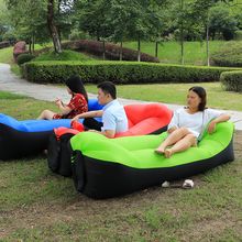 Fast Inflatable Air Sofa Camping Banana Air Sleeping Bag Air Bed Chair Portable Couch Hangout Lazy Laybag Inflatable(China)