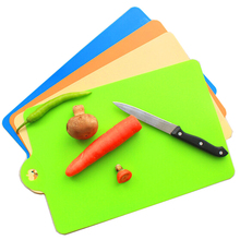 1PC Chopping Blocks Candy color Flexible thin chopping board portable kitchen cooking tools 35*24cm free shipping cutting board(China)