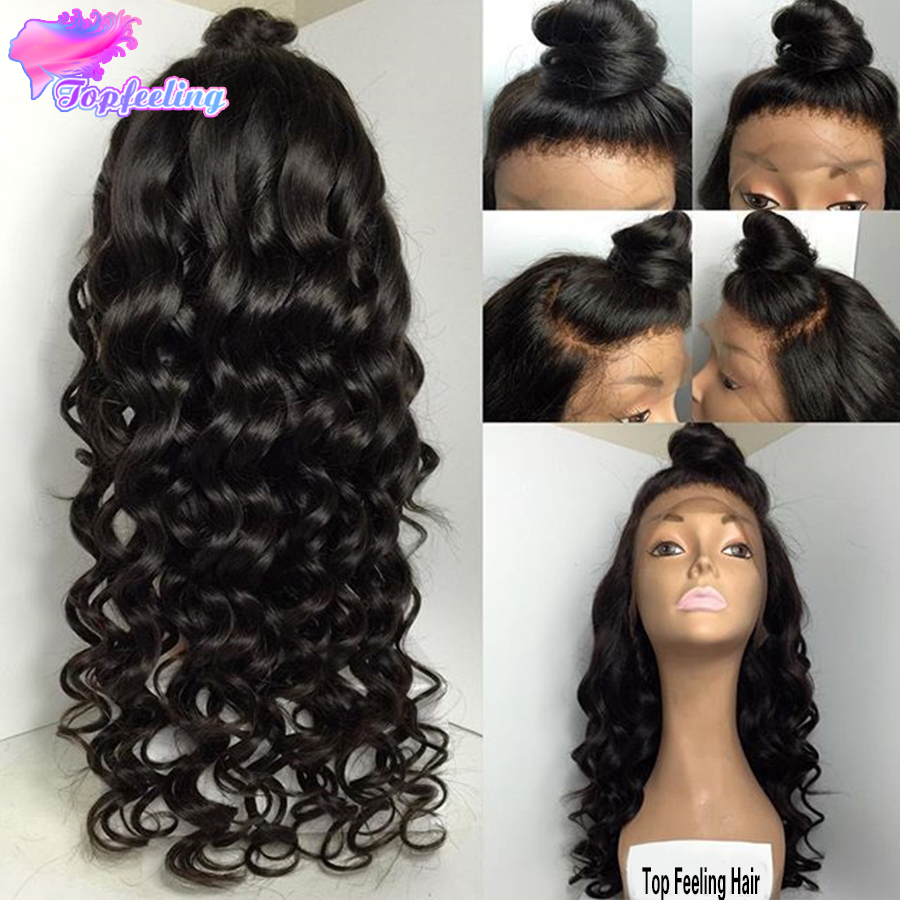 150 Density Human Hair Full Lace Wigs With Baby Hair Brazilian Full Lace Wigs For Black Women,7A Loose Deep Wave Lace Front Wigs<br><br>Aliexpress