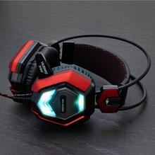 Original NUBWO NO-5000 Stereo LED Shining headphones glow in the dark Gaming Headset with Microphone For PC Gamer vs steelseries