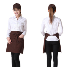 Half Waist Apron Waiter Chefs Apron Home Kitchen Aprons with Two Pockets