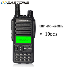 10pcs Zastone ZT-V3000 Walkie Talkie CB Ham Radio UHF 400-470MHz 8W 10KM 4000mAh Battery Two Way Radio HF Transceiver